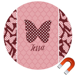 Polka Dot Butterfly Car Magnet (Personalized)