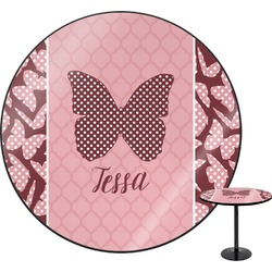 Polka Dot Butterfly Round Table (Personalized)