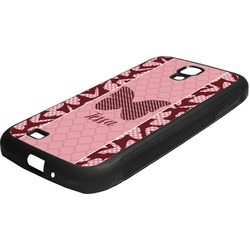 Polka Dot Butterfly Rubber Samsung Galaxy 4 Phone Case (Personalized)