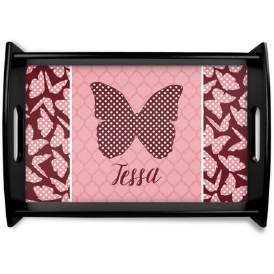 Polka Dot Butterfly Wooden Trays (Personalized)