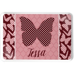 Polka Dot Butterfly Serving Tray (Personalized)
