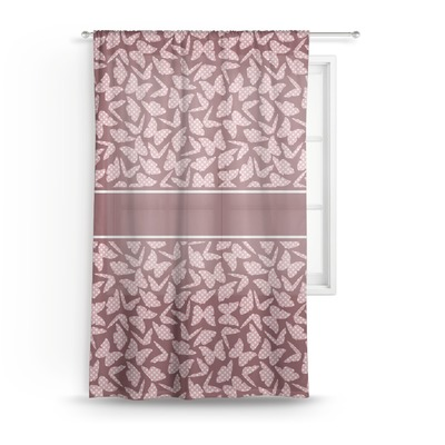 Polka Dot Butterfly Sheer Curtains (Personalized)