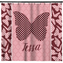 Polka Dot Butterfly Shower Curtain (Personalized)