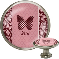 Polka Dot Butterfly Cabinet Knobs (Personalized)