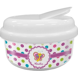 Polka Dot Butterfly Snack Container (Personalized)