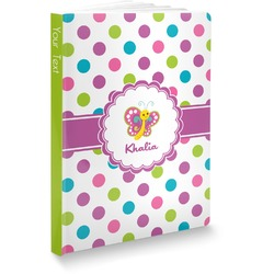 Polka Dot Butterfly Softbound Notebook (Personalized)