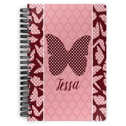Polka Dot Butterfly Spiral Bound Notebook (Personalized)