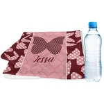 Polka Dot Butterfly Sports & Fitness Towel (Personalized)