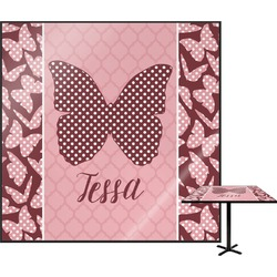 Polka Dot Butterfly Square Table Top (Personalized)