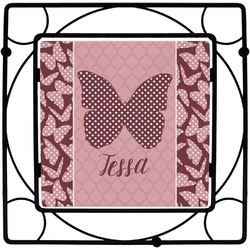 Polka Dot Butterfly Square Trivet (Personalized)