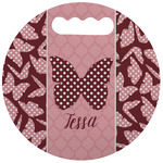 Polka Dot Butterfly Stadium Cushion (Round) (Personalized)