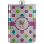 Polka Dot Butterfly Stainless Steel Flask (Personalized)
