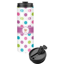 Polka Dot Butterfly Stainless Steel Tumbler (Personalized)