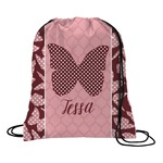 Polka Dot Butterfly Drawstring Backpack (Personalized)