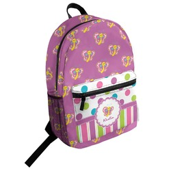 Polka Dot Butterfly Student Backpack (Personalized)