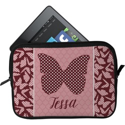 Polka Dot Butterfly Tablet Case / Sleeve (Personalized)