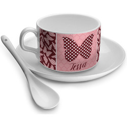 Polka Dot Butterfly Tea Cups (Personalized)