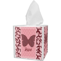Polka Dot Butterfly Tissue Box Cover (Personalized)