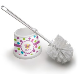 Polka Dot Butterfly Toilet Brush (Personalized)