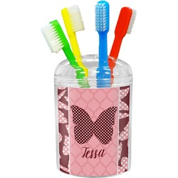 Polka Dot Butterfly Toothbrush Holder (Personalized)