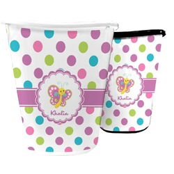 Polka Dot Butterfly Waste Basket (Personalized)