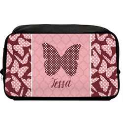 Polka Dot Butterfly Toiletry Bag / Dopp Kit (Personalized)
