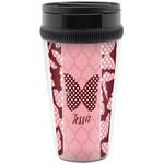 Polka Dot Butterfly Travel Mugs (Personalized)