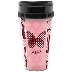 Polka Dot Butterfly Travel Mugs (Personalized)