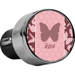 Polka Dot Butterfly USB Car Charger (Personalized)