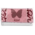 Polka Dot Butterfly Vinyl Checkbook Cover (Personalized)