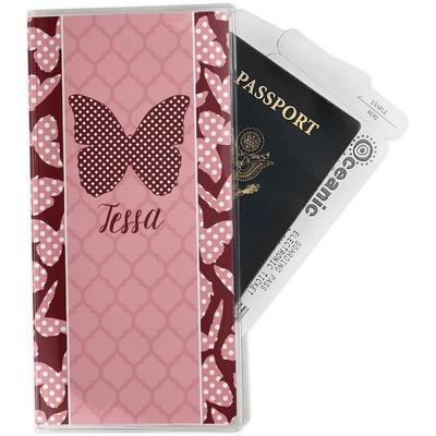 Polka Dot Butterfly Travel Document Holder