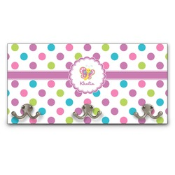 Polka Dot Butterfly Wall Mounted Coat Rack (Personalized)