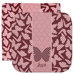 Polka Dot Butterfly Facecloth / Wash Cloth (Personalized)
