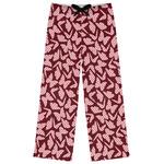 Polka Dot Butterfly Womens Pajama Pants (Personalized)