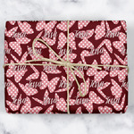 Polka Dot Butterfly Wrapping Paper (Personalized)