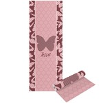 Polka Dot Butterfly Yoga Mat - Printable Front and Back (Personalized)