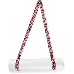 Polka Dot Butterfly Yoga Mat Strap (Personalized)