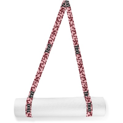 Polka Dot Butterfly Yoga Mat Strap (Personalized)