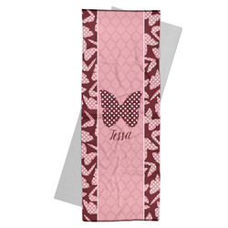 Polka Dot Butterfly Yoga Mat Towel (Personalized)