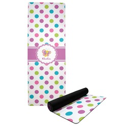 Polka Dot Butterfly Yoga Mat (Personalized)