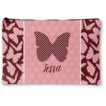 Polka Dot Butterfly Zipper Pouch (Personalized)