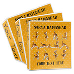 Yoga Dogs Sun Salutations 3-Ring Binder (Personalized)