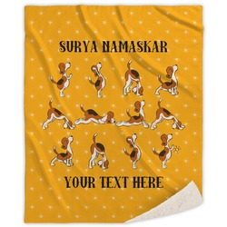 Yoga Dogs Sun Salutations Sherpa Throw Blanket (Personalized)