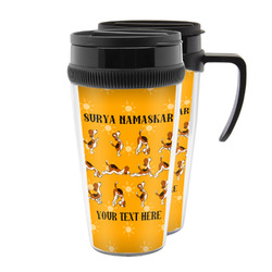Yoga Dogs Sun Salutations Acrylic Travel Mugs (Personalized)