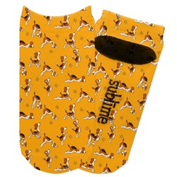 Yoga Dogs Sun Salutations Adult Ankle Socks (Personalized)