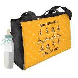 Yoga Dogs Sun Salutations Diaper Bag w/ Name or Text