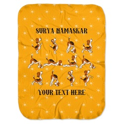 Yoga Dogs Sun Salutations Baby Swaddling Blanket (Personalized)