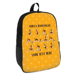 Yoga Dogs Sun Salutations Kids Backpack (Personalized)