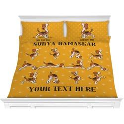 Yoga Dogs Sun Salutations Comforter Set - King (Personalized)