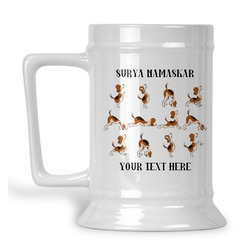 Yoga Dogs Sun Salutations Beer Stein (Personalized)